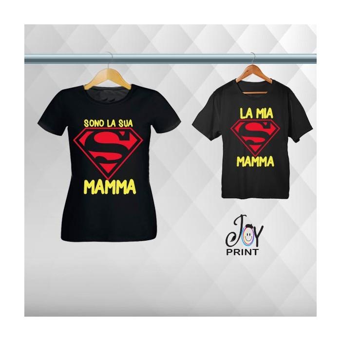 Coordinato Festa Della Mamma Siamo Super Nero