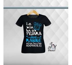 T shirt Festa della Mamma Sveglia Nera
