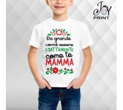 T Shirt bambino Festa della Mamma Fotocopia