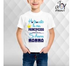 T Shirt bambino Festa della Mamma La Mia Principessa