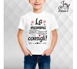 T Shirt bambino Festa della Mamma No consigli