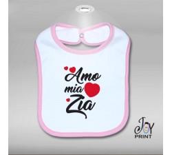 Bavaglino Personalizzato Neonato Amo zia