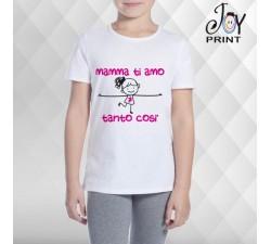 T Shirt bambino Festa della Mamma Ti amo tanto