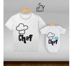 Coordinato t shirt festa del papà Chef - idea regalo