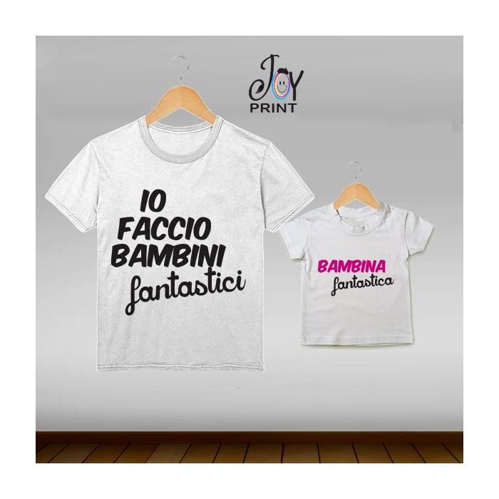 Coordinato t shirt festa del papà Fantastici - idea regalo