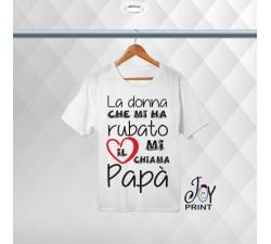 T-shirt Personalizzata festa del papà Cuore