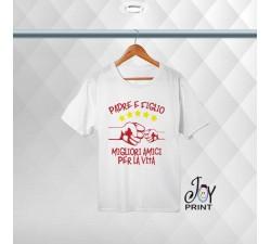 T-shirt Uomo Personalizzata festa del papà Amici