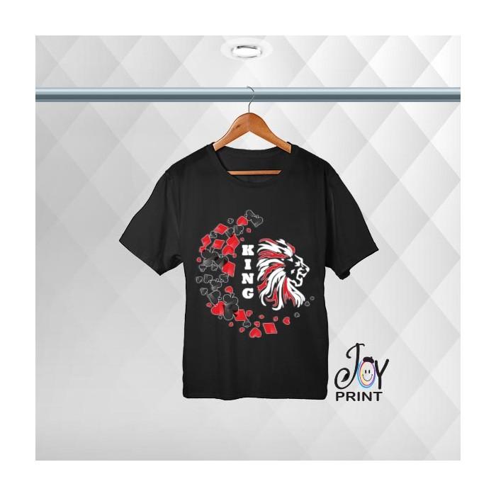 T-shirt uomo Personalizzata Poker King