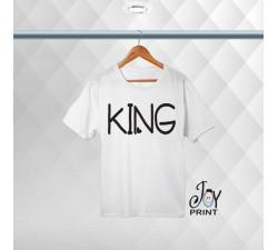 T-shirt uomo Personalizzata Heart King