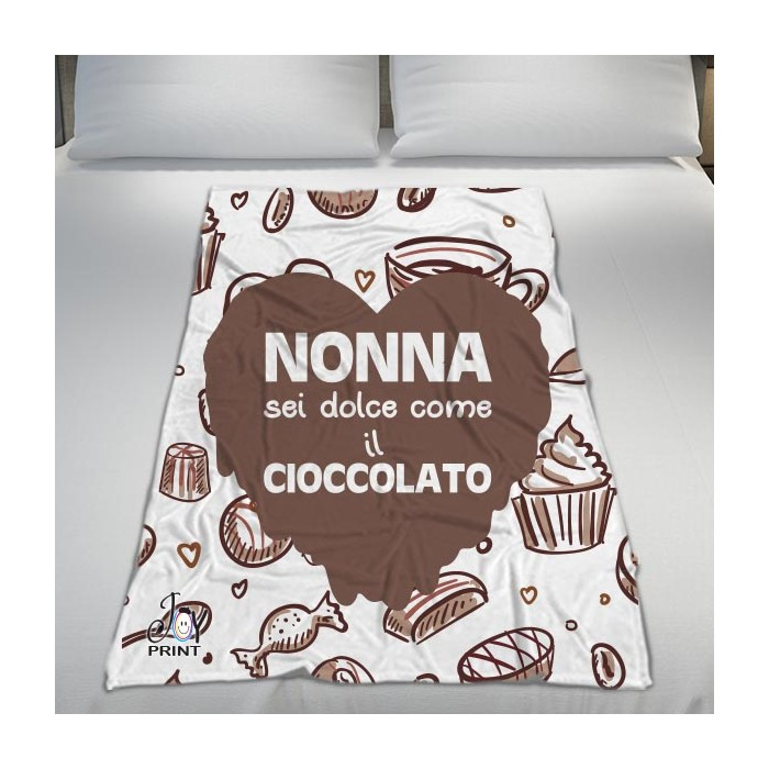 Plaid Personalizzato Festa dei Nonni Ciocolate
