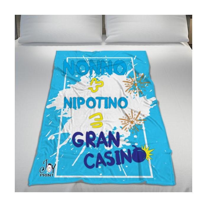 Plaid Personalizzato Festa dei Nonni Gran Casino