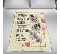 Plaid Personalizzato Festa dei Nonni Dolci Ricordi