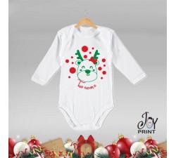 Body Neonato Personalizzato Natalizio Christmas Pois