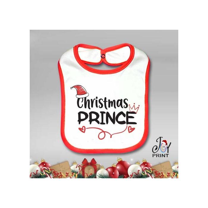 Bavetto Bavetta Bavaglino Personalizzato Natalizio Christmas Royals Idea Regalo