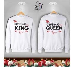 Coppia di felpe Personalizzate Natale Christmas Royals Idea Regalo
