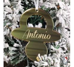 Addobbo in Plexiglass di Natale Ciuccio Natalizio Idea Regalo