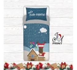 Copripiumino Personalizzato Natale Arriva Babbo Natale