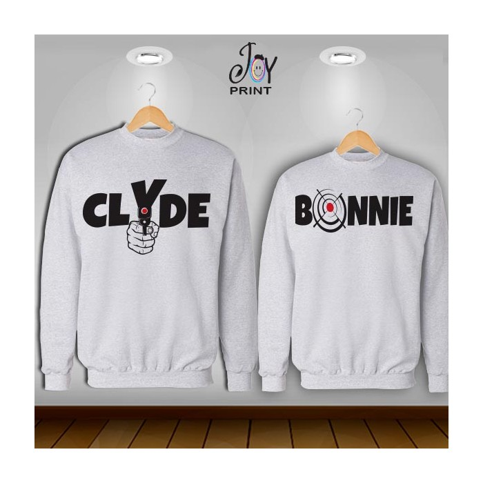 Coppia di felpe Personalizzate Love Bonnie & Clyde