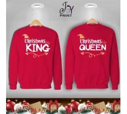 Coppia di felpe Personalizzate Christmas royals red