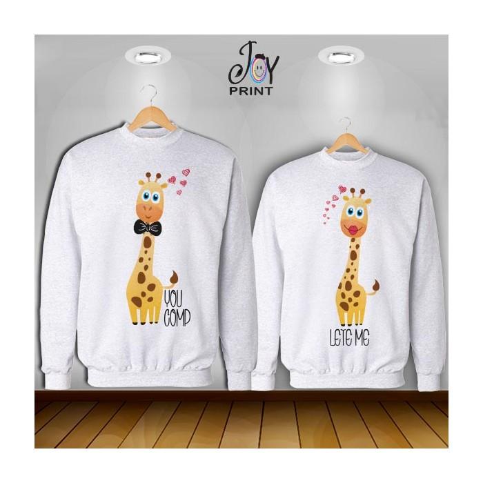 Coppia di felpe Personalizzate Love Giraff