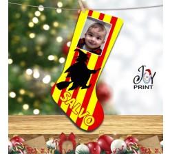 Calza Befana Personalizzata Con Foto e Nome Idea Regalo Benevento Calcio