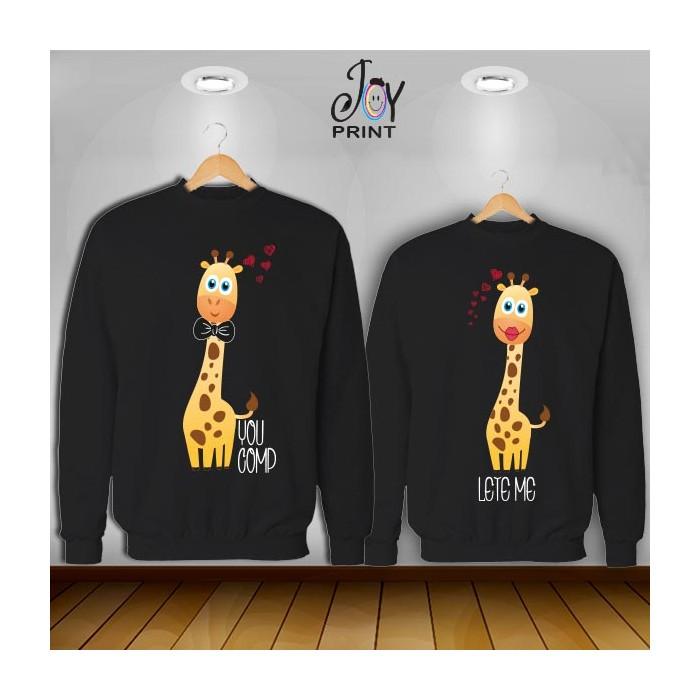 Coppia di felpe Giraff color