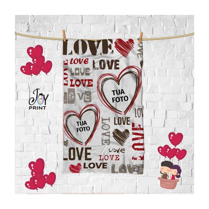 Plaid Personalizzato love SCRITTE