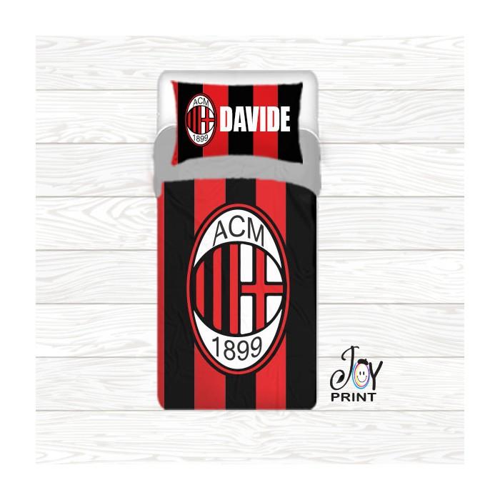 Copripiumino con federa personalizzata tifoso Milan