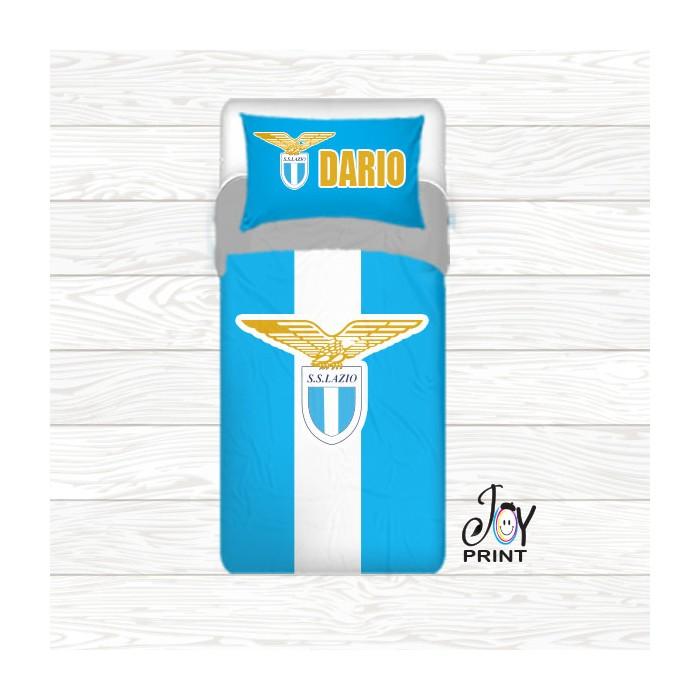 Copripiumino con federa personalizzata tifoso Lazio