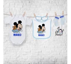 Set baby personalizzato topolini