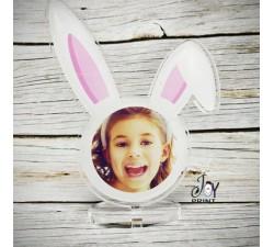 Cornice in plexiglass pasqua orecchie coniglio personalizzata con foto