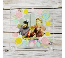 Cornice in plexiglass pasqua happy easter personalizzata con foto