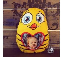 Cuscino Pasqua Sagomato Mamma Pulcino personalizzato con foto