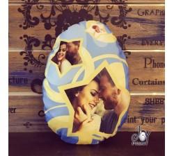 Cuscino Pasqua Sagomato Uovo di cioccolato Stars personalizzato con foto