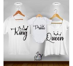 Tris T-shirt/body King e Queen
