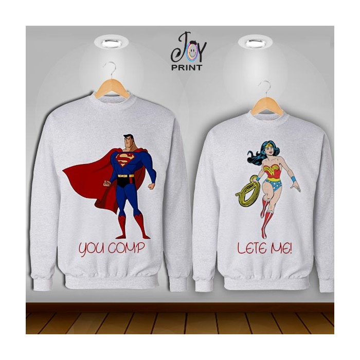 Coppia di felpe Superman