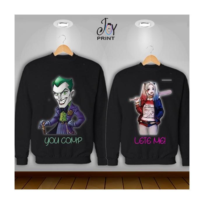 Coppia di felpe joker color