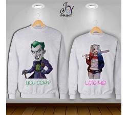 Coppia di felpe Joker