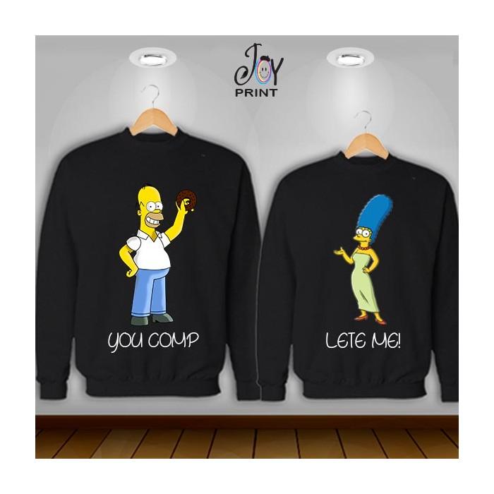 Coppia di felpe Simpson color