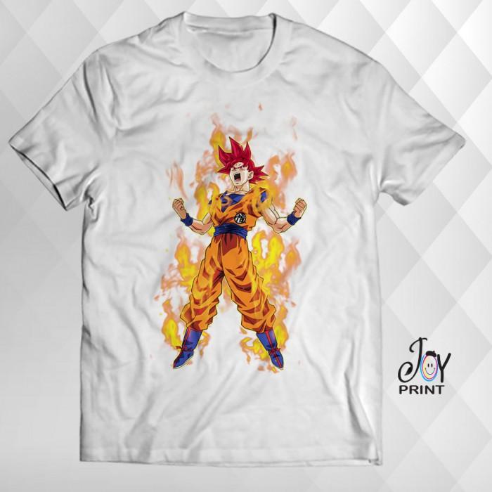 T Shirt Manga Goku bianca