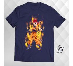 T Shirt Manga Goku blu