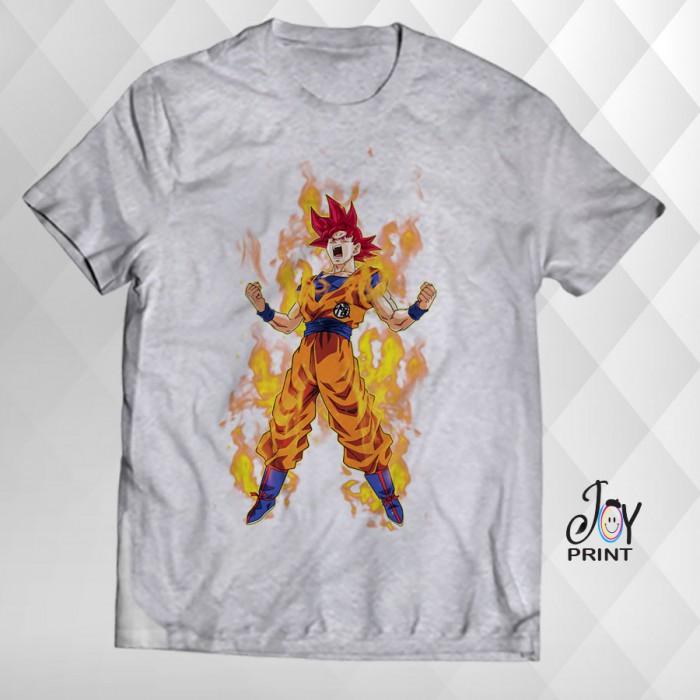 T Shirt Manga Goku grigia