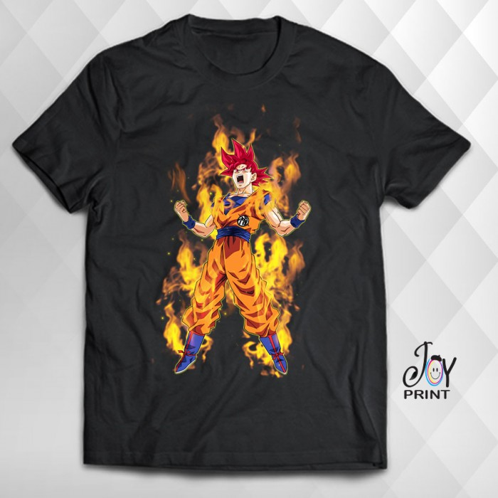 T Shirt Manga Goku nera