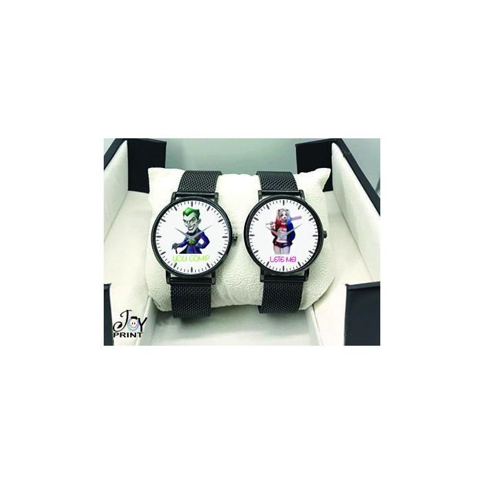Coppia di orologi Personalizzati Joker&Harley Queen