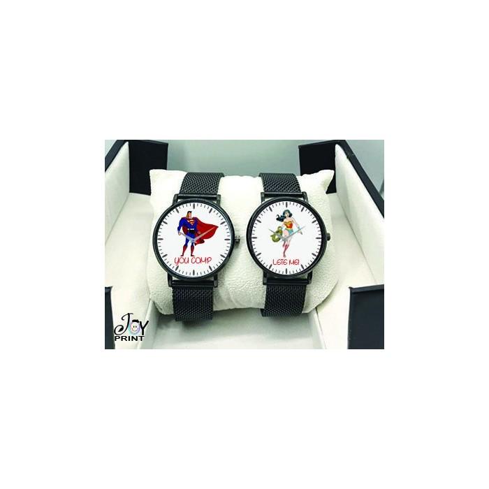 Coppia di orologi Personalizzati Superman