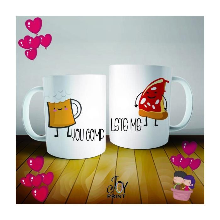 Coppia di Tazze Love Food