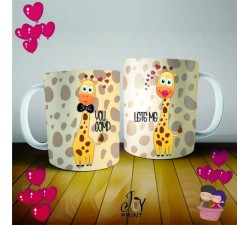 Coppia di Tazze Love Giraff