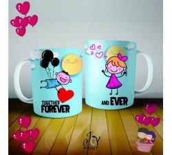 Coppia di Tazze Love Together Forever