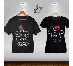 Coppia di t shirt Love Puzzle