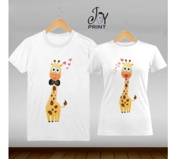 Coppia di t shirt Love Giraff